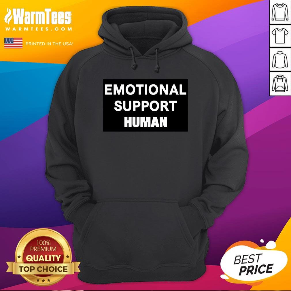 Happy Emotional Support Human Hoodie - Desisn By Warmtees.com
