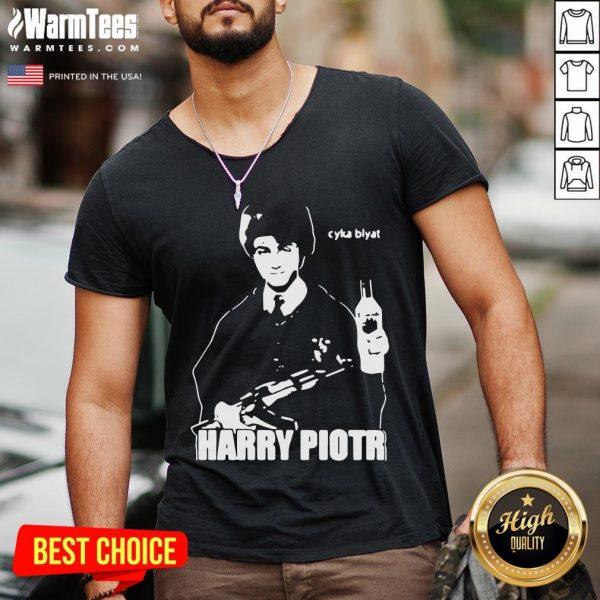 Happy Harry Piotr Cyka Blyat V-neck - Desisn By Warmtees.com