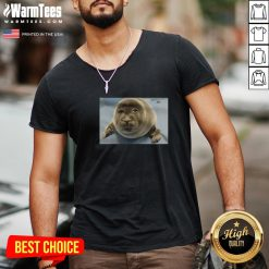 Happy Toba Aquarium Baby Seal V-neck - Design By Warmtees.com