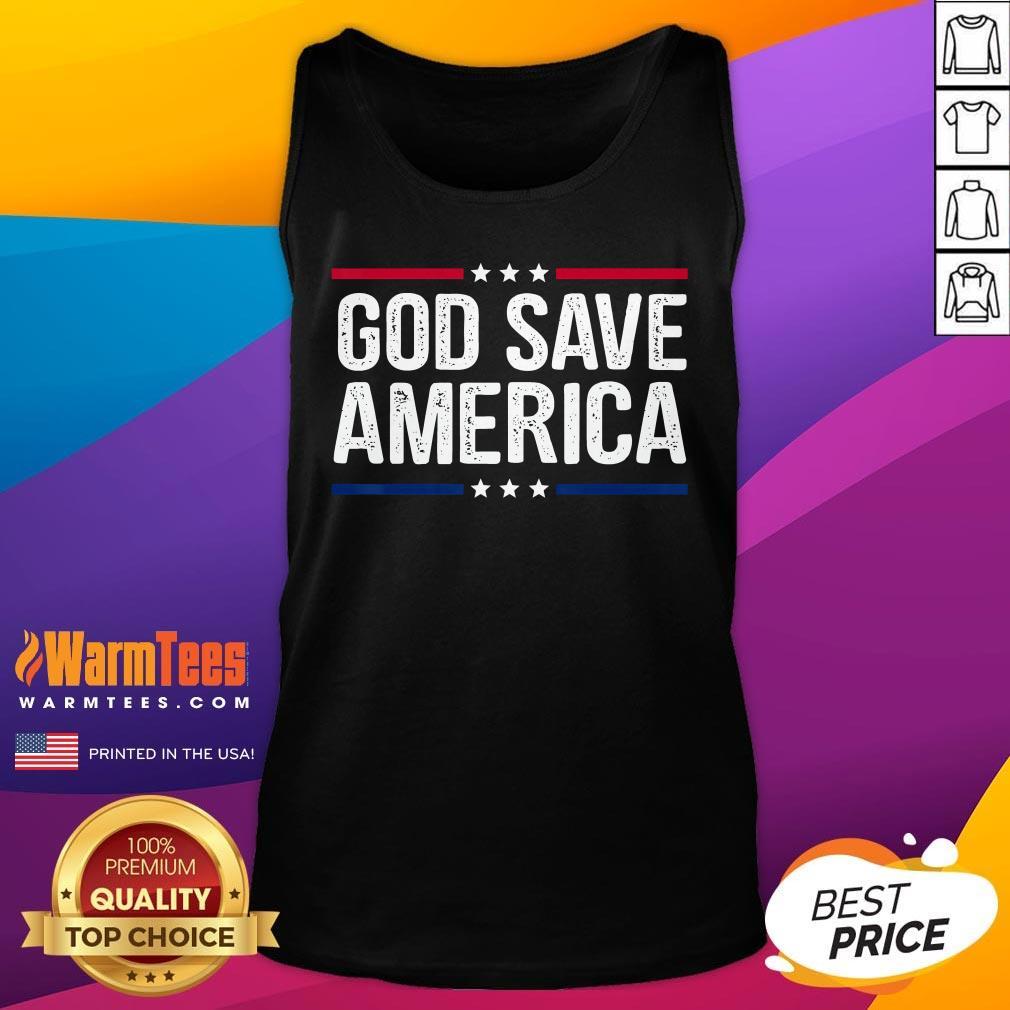 Hot God Save America Shirt Retro Vintage Style Tee Tank Top - Desisn By Warmtees.com