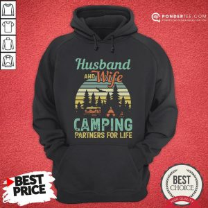 Husband And Wife Camping Partners For Life Retro Hoodie - Desisn By Warmtees.com