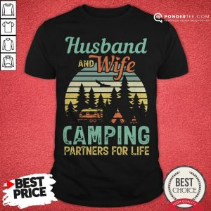 Husband And Wife Camping Partners For Life Retro Shirt - Desisn By Warmtees.com