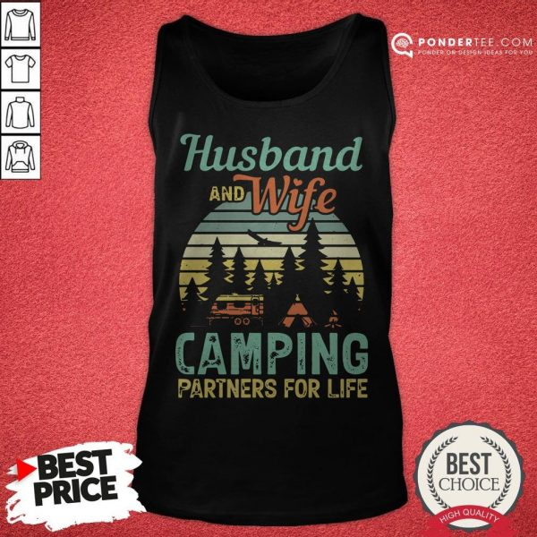 Husband And Wife Camping Partners For Life Retro Tank Top - Desisn By Warmtees.com