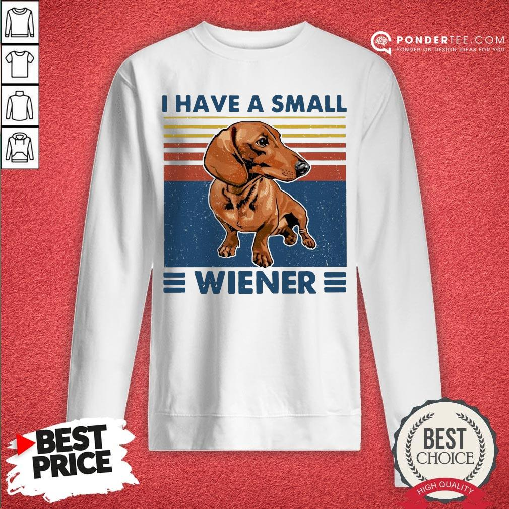 I Have A Small Wiener Dachshund Vintage Sweatshirt - Desisn By Warmtees.com