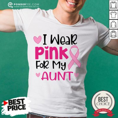 I Wear Pink For My Aunt Shirt- Desisn By Warmtees.com