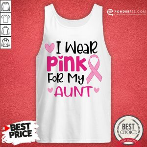 I Wear Pink For My Aunt Tank Top - Desisn By Warmtees.com