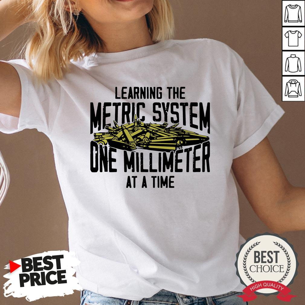 Learning The Metric System One Millimeter At A Time V-neck - Desisn By Warmtees.com
