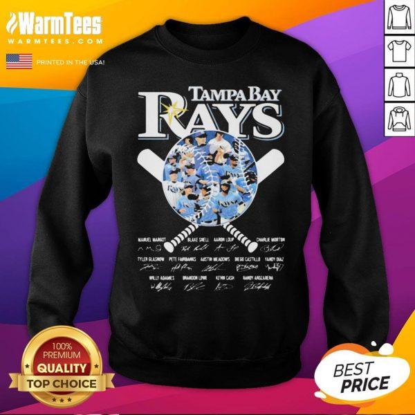 Nice Tampa Bay Rays Baseball Signatures Sweatshirt - Desisn By Warmtees.com