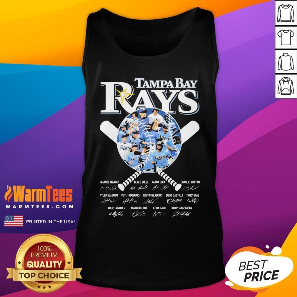 Nice Tampa Bay Rays Baseball Signatures Tank Top - Desisn By Warmtees.com