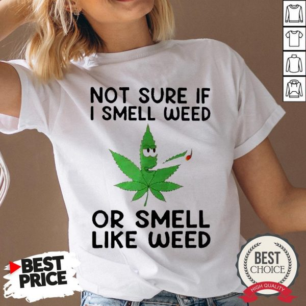 Not Sure If I Smell Weed Or Smeel Like Weed V-neck - Desisn By Warmtees.com