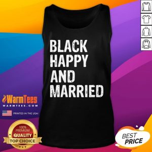 Official Black Happy And Married Tank Top - Desisn By Warmtees.com