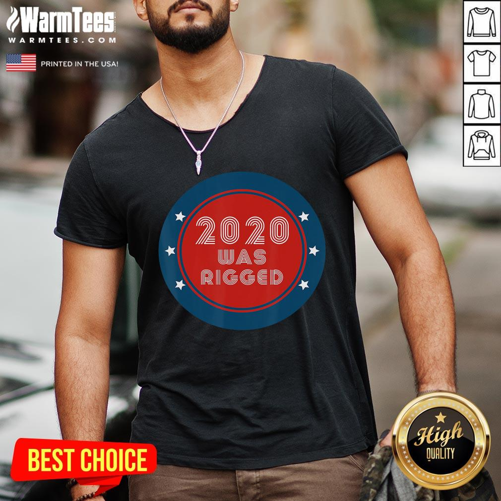 Official Election Rigged 2020 Voter Fraud V-neck - Desisn By Warmtees.com