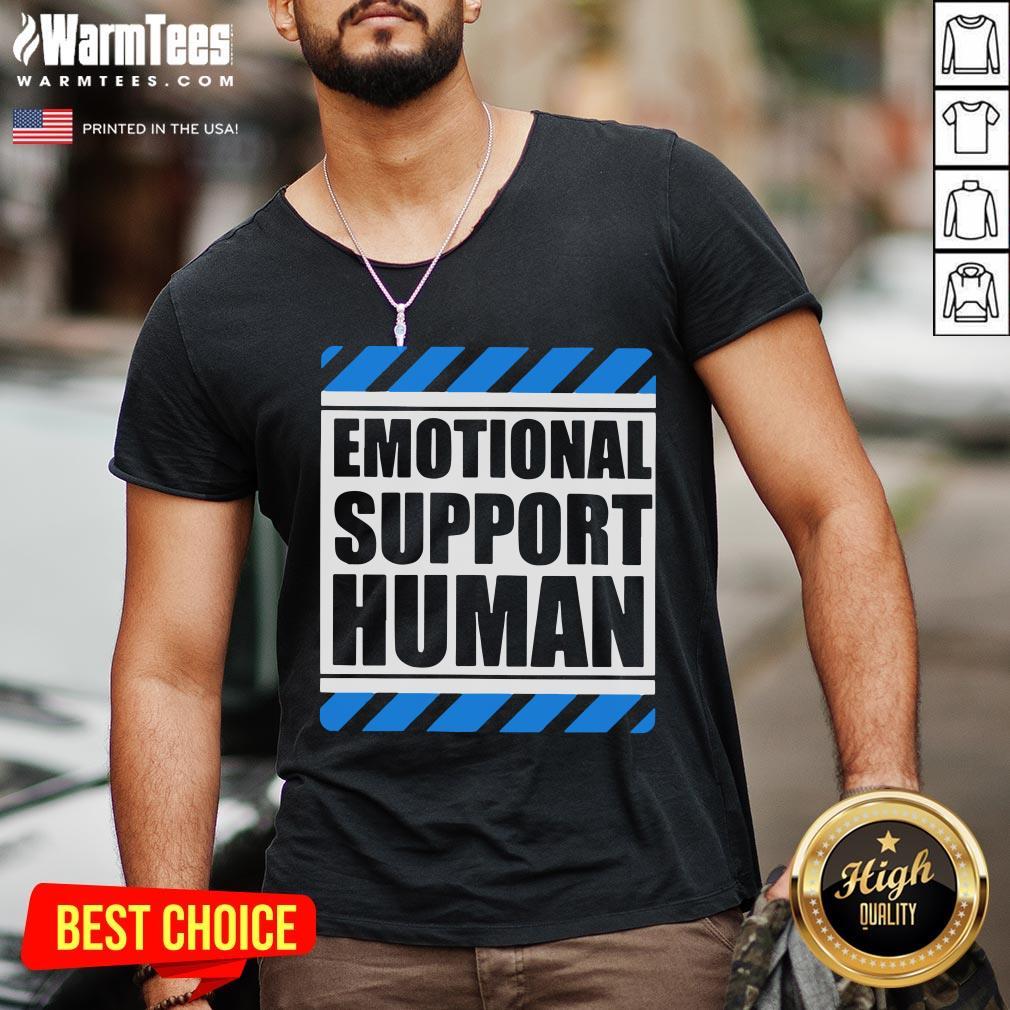 Official Emotional Support Human V-neck - Desisn By Warmtees.com