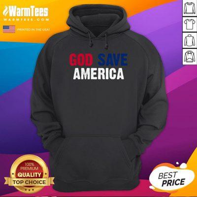 Offcial God Save America Shirt Retro Vintage American Flag Hoodie - Desisn By Warmtees.com