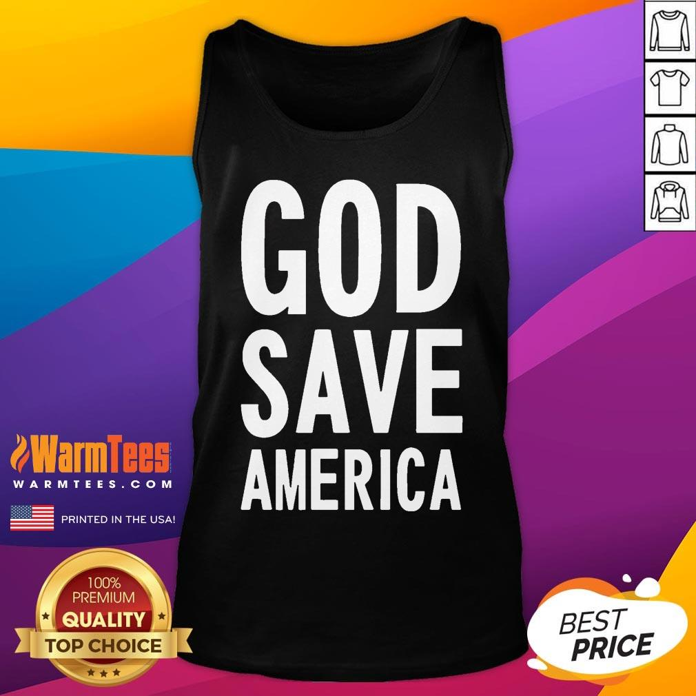 Official Kanye West God Save America Tank Top - Desisn By Warmtees.com