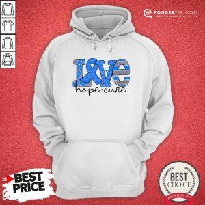 Official Love Hope Cure Hoodie - Desisn By Warmtees.com