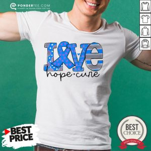 Official Love Hope Cure Shirt - Desisn By Warmtees.com