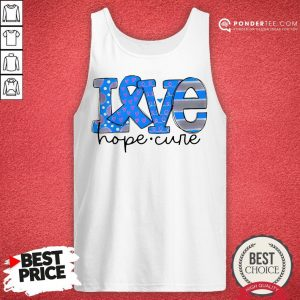 Official Love Hope Cure Tank Top - Desisn By Warmtees.com