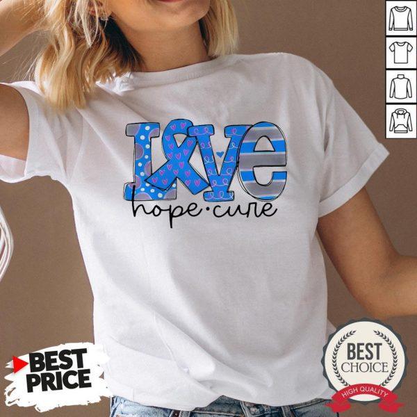 Official Love Hope Cure V-neck - Desisn By Warmtees.com