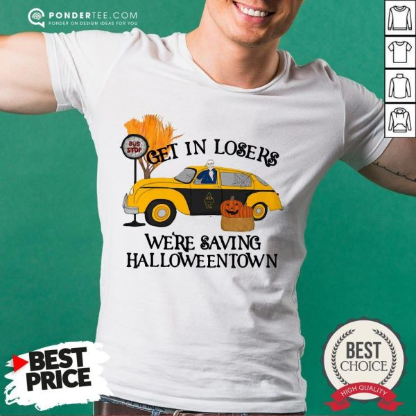 Original Benny Taxi Driver Get In Losers We're Saving Halloweentown Shirt - Desisn By Warmtees.com