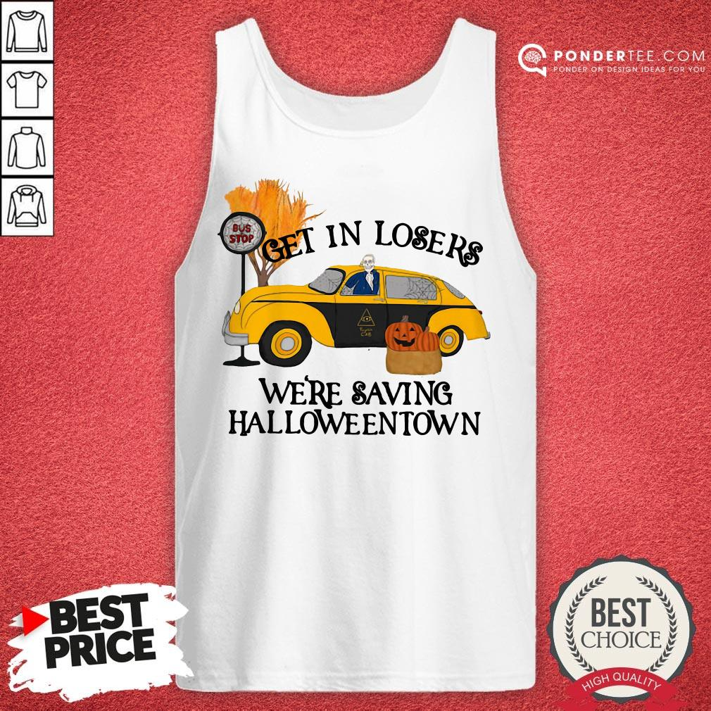 Original Benny Taxi Driver Get In Losers We're Saving Halloweentown Tank Top - Desisn By Warmtees.com