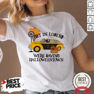 Original Benny Taxi Driver Get In Losers We're Saving Halloweentown V-neck - Desisn By Warmtees.com