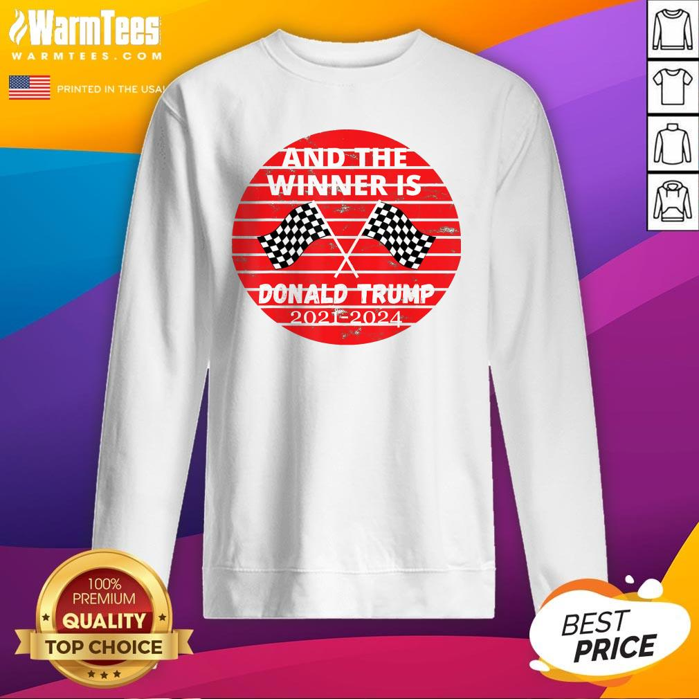 Perfect And The Winner Is Donald Trump In 2020 President Election Vote Sweatshirt - Design By Warmtees.com