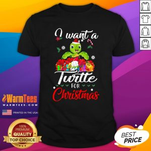 Perfect I Want A Turtle For Christmas Shirt - Design By Warmtees.com