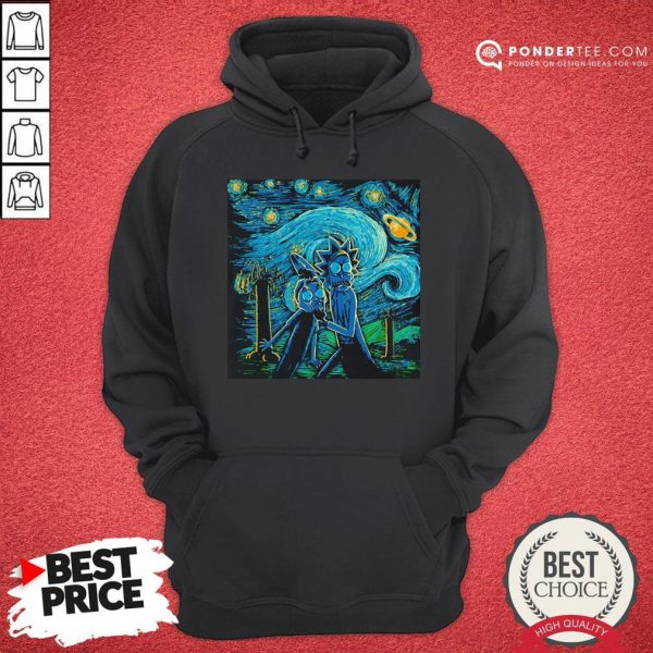 Rick And Morty The Scream Paiting Hoodie - Desisn By Warmtees.com