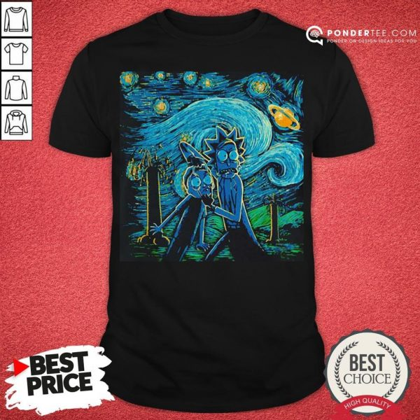 Rick And Morty The Scream Paiting Shirt - Desisn By Warmtees.com