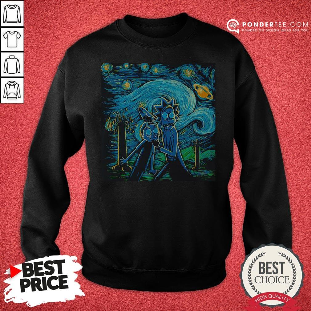 Rick And Morty The Scream Paiting Sweatshirt - Desisn By Warmtees.com