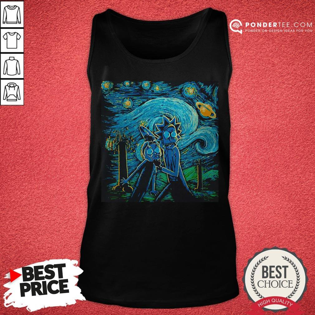Rick And Morty The Scream Paiting Tank Top - Desisn By Warmtees.com