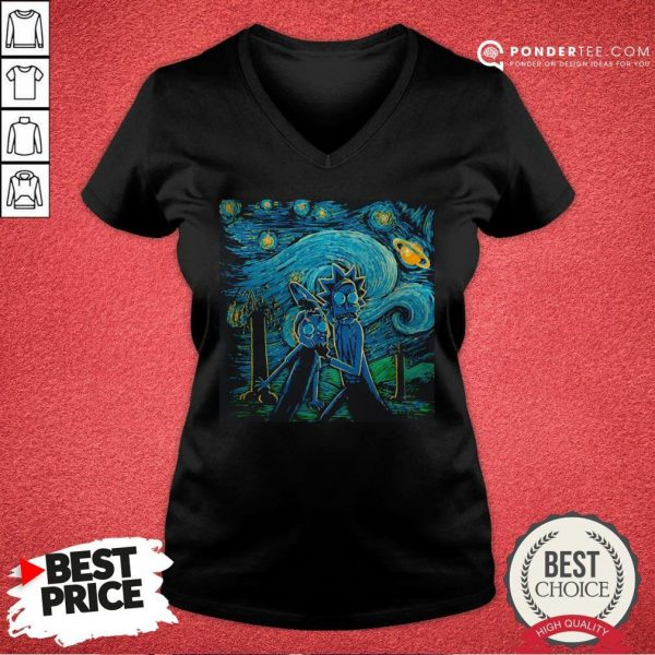 Rick And Morty The Scream Paiting V-neck - Desisn By Warmtees.com