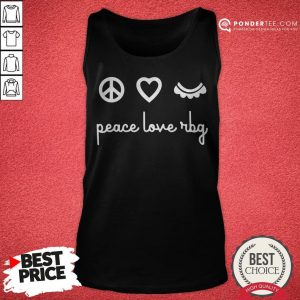 Ruth Bader Ginsburg Peace Love RBG Tank Top - Desisn By Warmtees.com