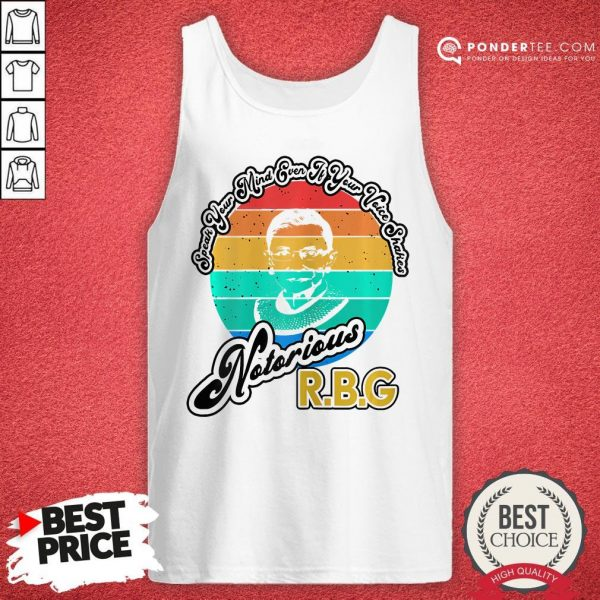 Speak Your Mind Even If Your Voice Shakes RBG Vintage Tank Top - Desisn By Warmtees.com