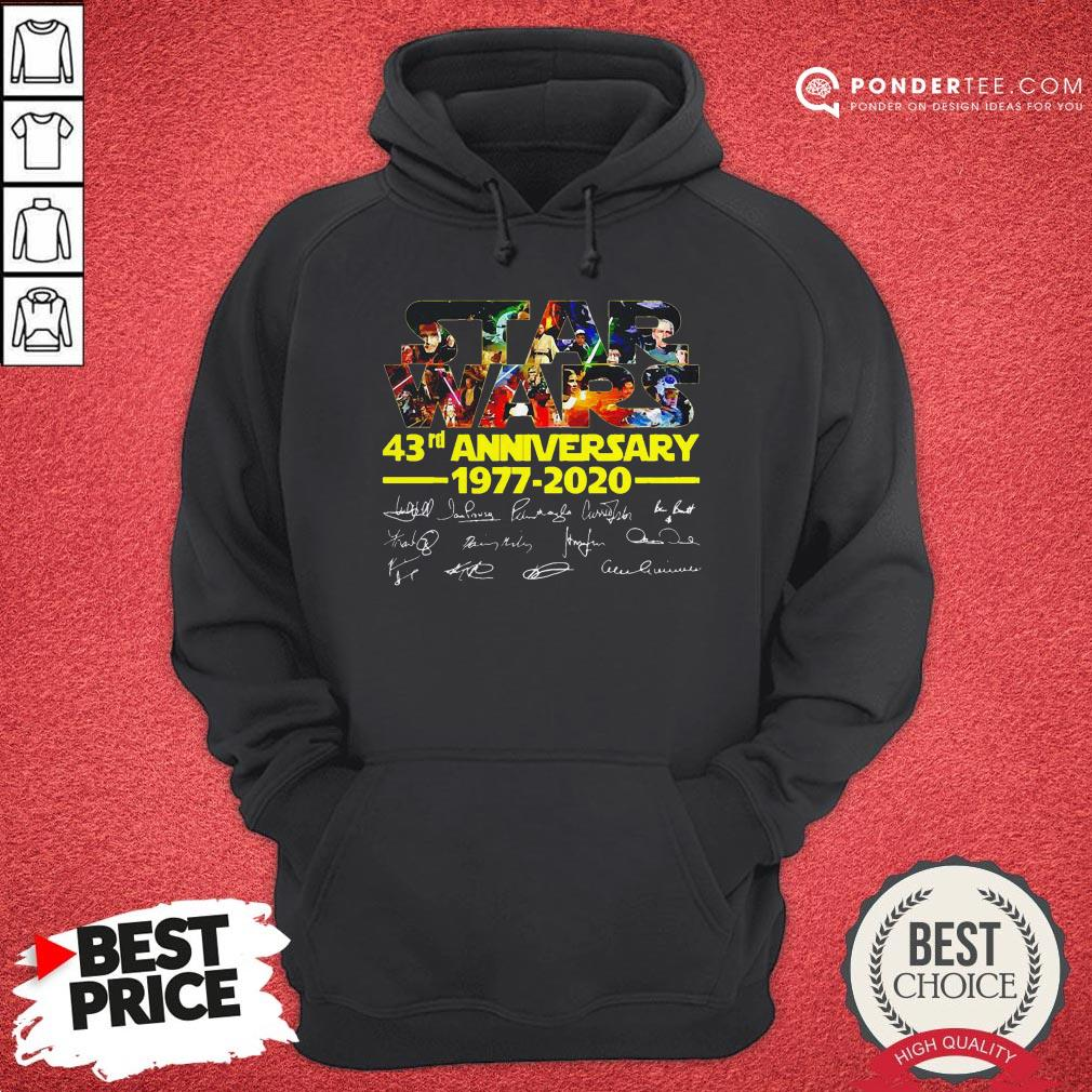 Star Wars 43rd Anniversary 1977 2020 Characters Signatures Hoodie - Desisn By Warmtees.com