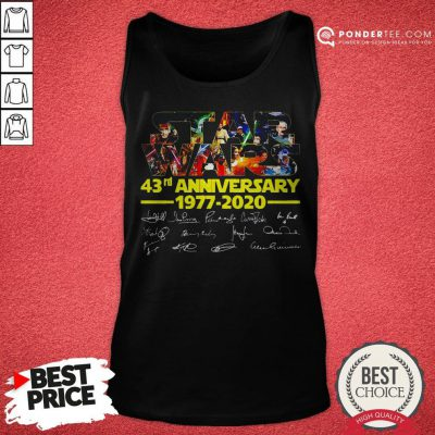 Star Wars 43rd Anniversary 1977 2020 Characters Signatures Tank Top - Desisn By Warmtees.com