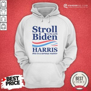 Stroll To The Pools Biden Harris This Is A Serious Matter Hoodie - Desisn By Warmtees.com