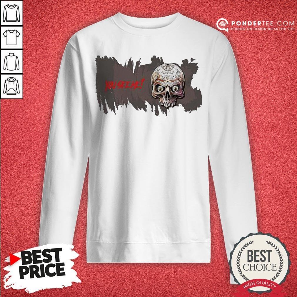 Sugar Skull You See Me Happy Halloween Sweatshirt - Desisn By Warmtees.com