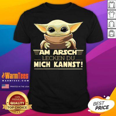 Top Baby Yodda Am Arsch Lecken Du Mich Kannst Shirt - Desisn By Warmtees.com