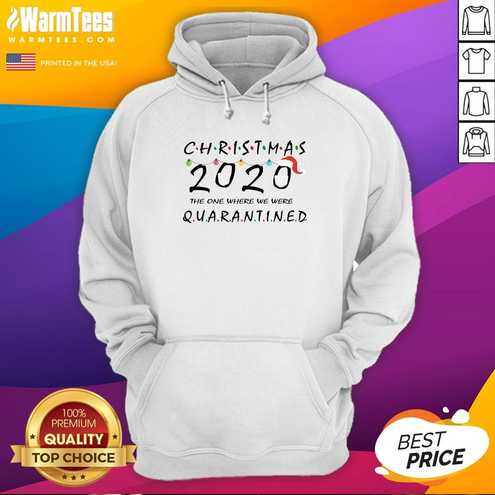 Top Ugly Christmas 2020 The One Where We Were Quarantined Light Face Mask Hoodie - Design By Warmtees.com