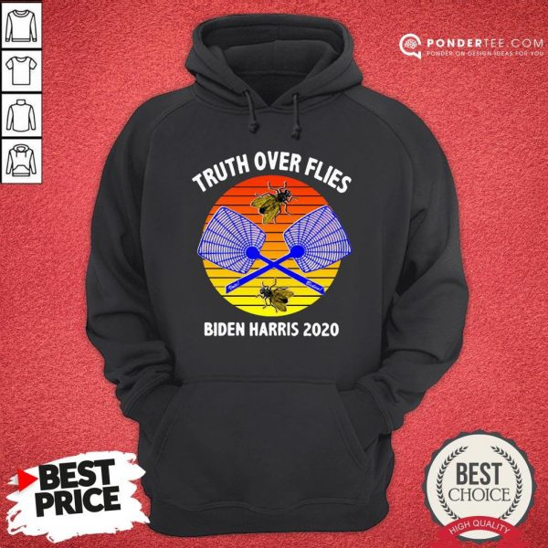 Truth Over Flies Biden Harris 2020 Vintage Hoodie - Desisn By Warmtees.com