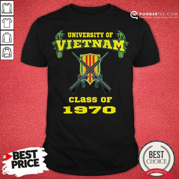 University Of Vietnam Class Of 1970 Shirt - Desisn By Warmtees.com