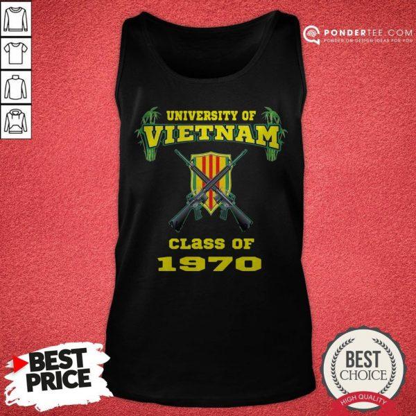 University Of Vietnam Class Of 1970 Tank Top - Desisn By Warmtees.com