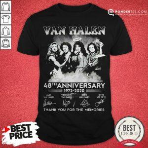 Van Halen 48th Anniversary 1972-2020 Thank You For The Memories Shirt - Desisn By Warmtees.com