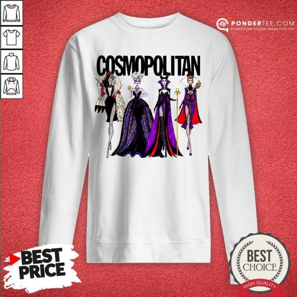 Vogue Disney Villains Evil Cosmopolitan Sweatshirt - Desisn By Warmtees.com