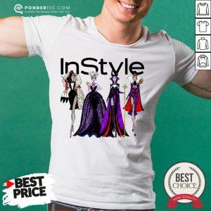 Vogue Disney Villains Evil Instyle Shirt - Desisn By Warmtees.com