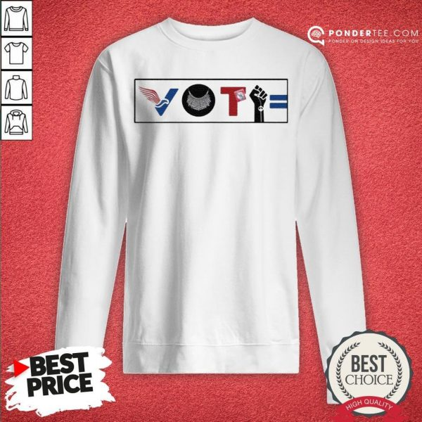 Vote For Liberty RBG Peace BLM Equality Sweatshirt - Desisn By Warmtees.com