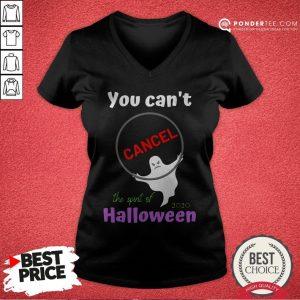 You Can't Cancel Halloween - Halloween Spirt 2020 Lives On V-neck - Desisn By Warmtees.com