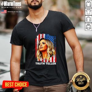 Attractive Kayleigh McEnany Truth Teller United States V-neck - Design By Warmtees.com